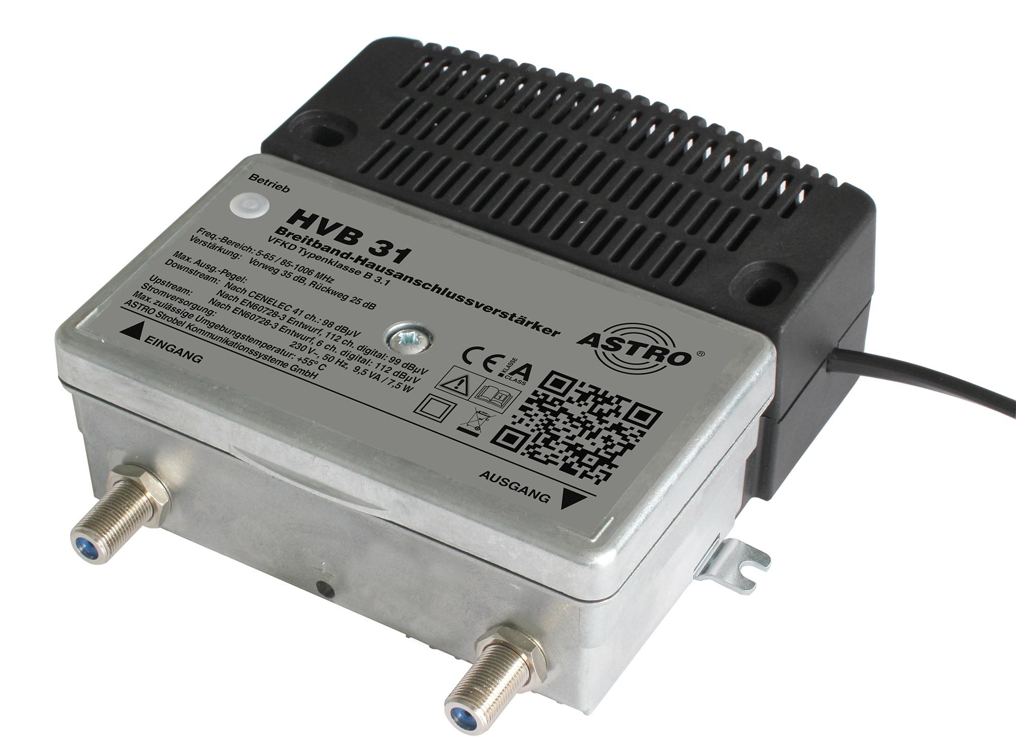 HVB 31 Breitbandverstärker mit 65MHz Rückweg