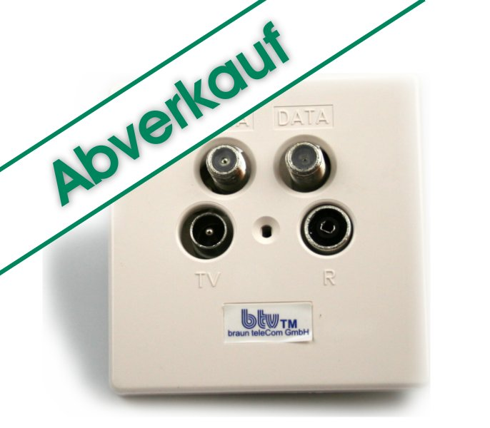 Multimedia-Breitbandstichdose btv MMD 6