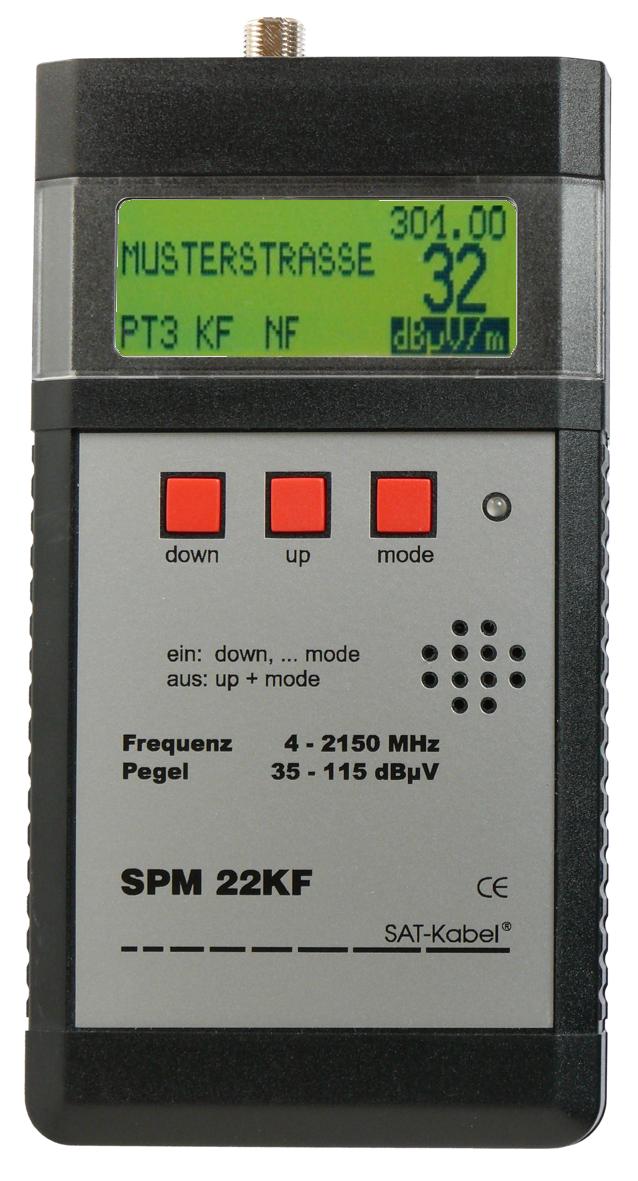 SPM 22 KF - Signal-Pegelmessgerät