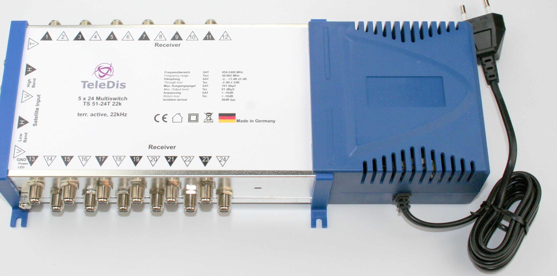 TS 51-24 T, Multischalter 5 in auf 24 out, Netzteil