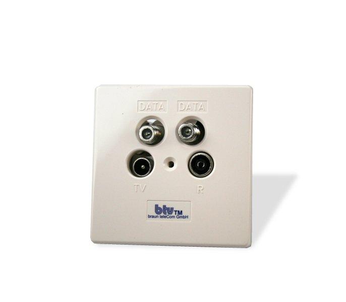 Multimedia-Breitbanddurchgangsdose btv MMD 14A