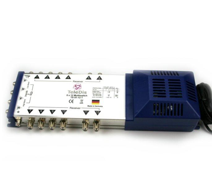 TS 51-12 T, Multischalter 5 in auf 12 out, Netzteil