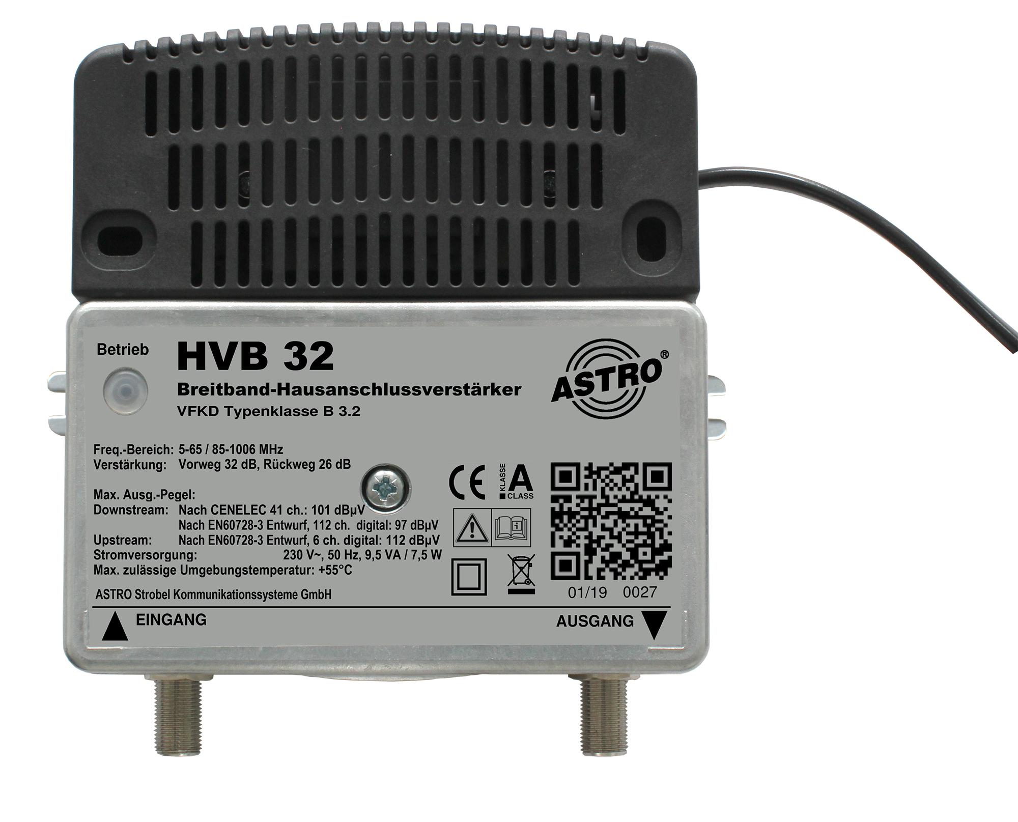 HVB 32 Breitbandverstärker mit 65MHz Rückweg